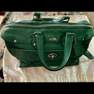 Green Coach Satchel/Crossbody/Messenger bag